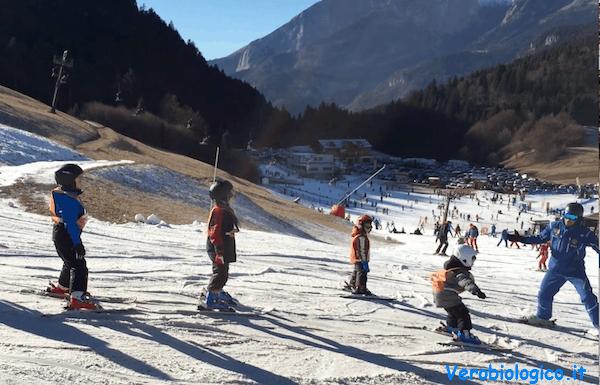 Andalo e Molveno con bambini: lezioni di sci
