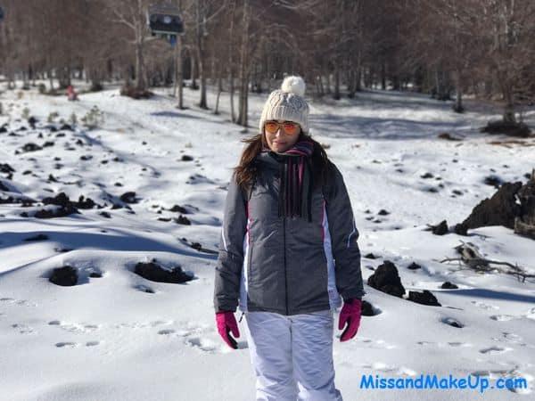 Sara di MissMakeUp sulla neve