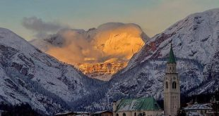 Tramonto a Cortina D'Ampezzo