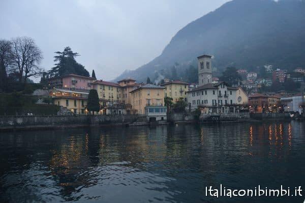 Dal battello sul lago di Como