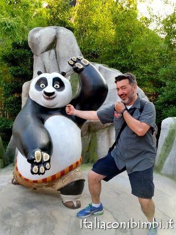 Paolo alla Kung Fu Panda Academy a Gardaland