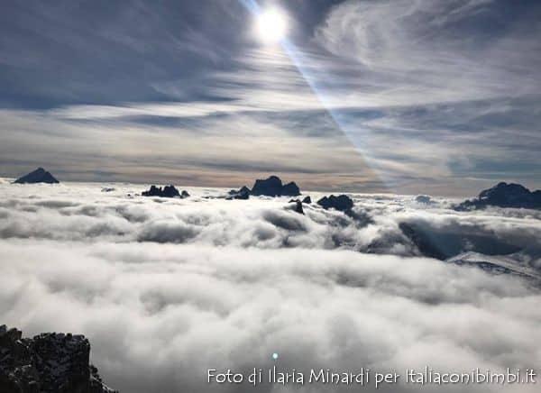 Panorama dalla pista Lagazuoi di Cortina D'Ampezzo