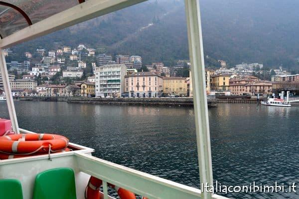 sul battello del lago di Como