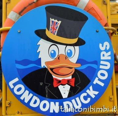 La papera di London Duck Tours
