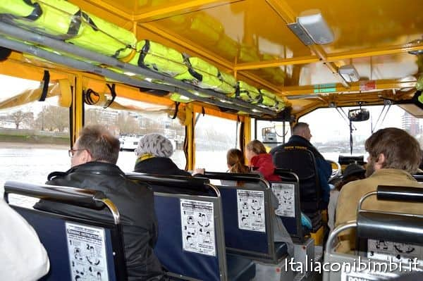 London Duck Tour all'interno