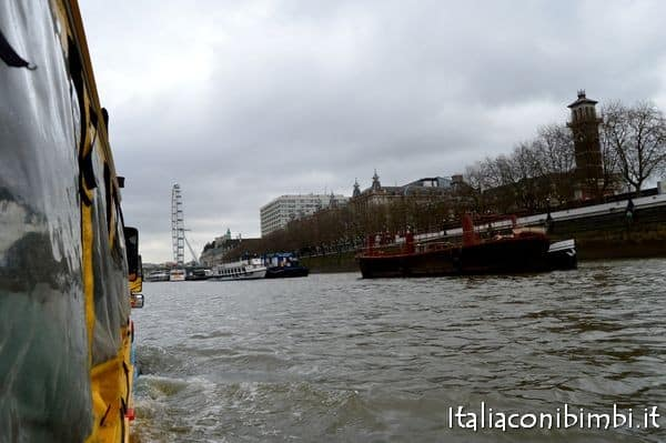 London Duck Tour sul fiume Tamigi