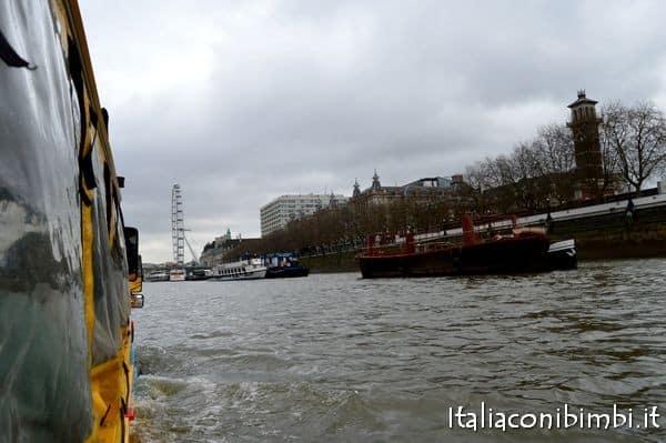 London Duck Tour sul fiume Tamigi