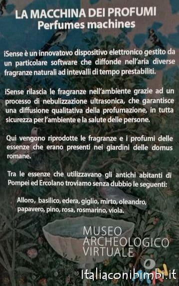 Macchina dei profumi al MAV museo archeologico di Ercolano