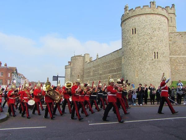 cambio della guardia al castello a Windsor