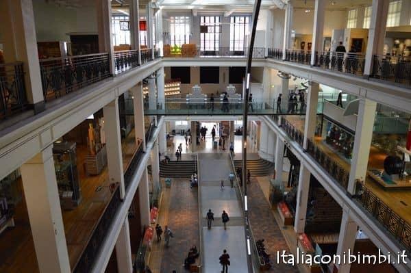 ingresso dall'alto del museo della scienza di Londra