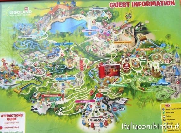 mappa di Legoland Windsor