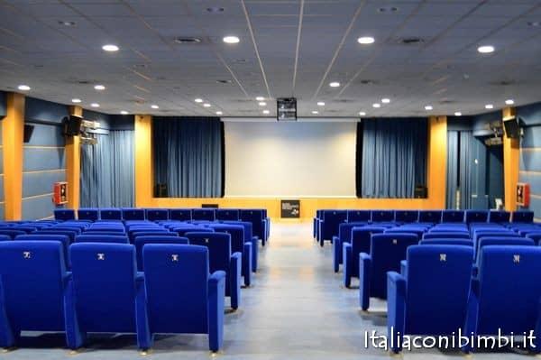 sala proiezione in 3D al museo archeologico di Ercolano
