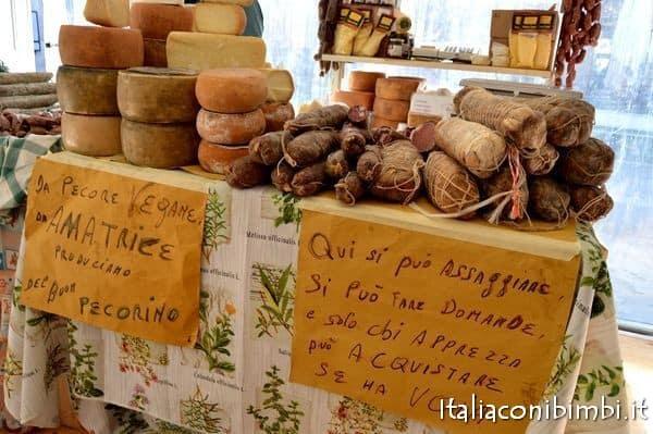 salumi e formaggi di Amatrice