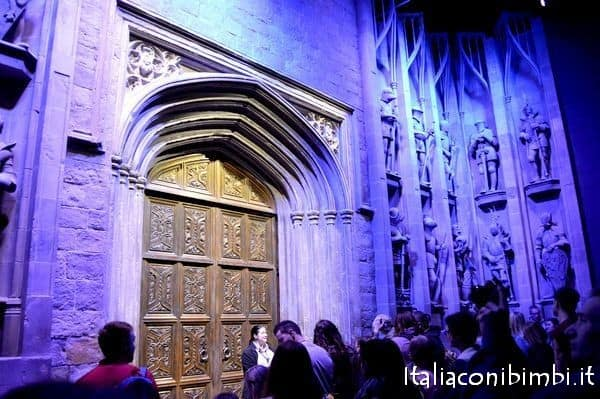 Ingresso alla Great Hall agli Harry Potter Studios