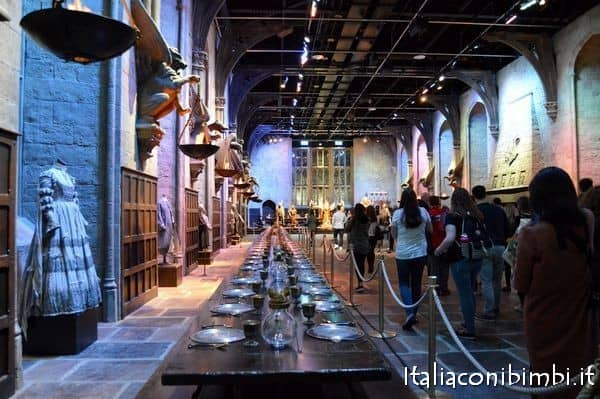 refettorio agli Harry Potter Studios