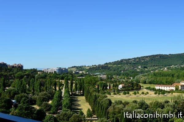 vista dall'appartamento a Perugia