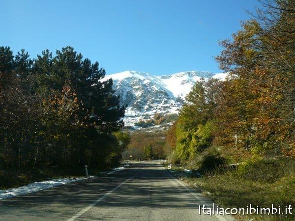 Strada che sale verso Rocca di Cambio
