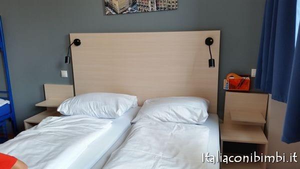 camera da letto dell'ostello di Monaco