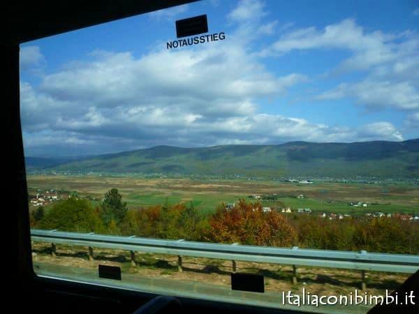 vista dal finestrino