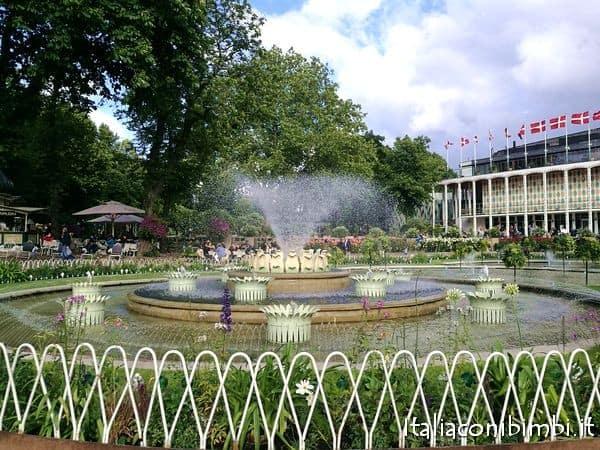 Fontana centrale del Tivoli di Copenaghen