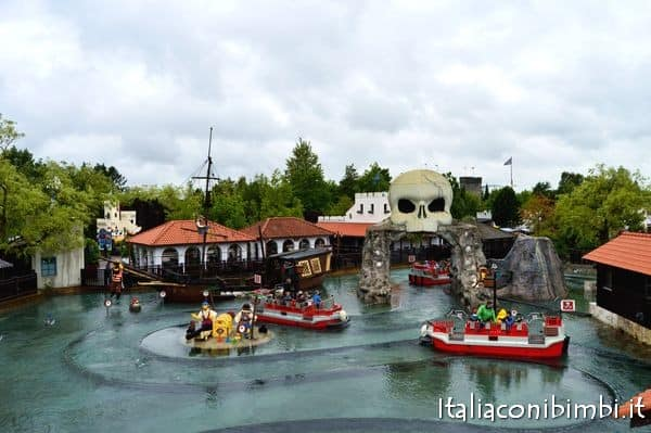 Navi dei pirati a Legoland Billund dall'alto