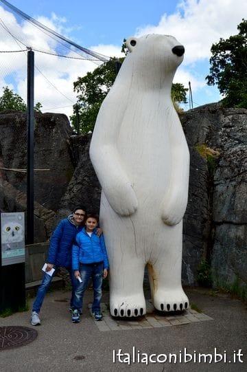 Orso bianco zoo Copenaghen