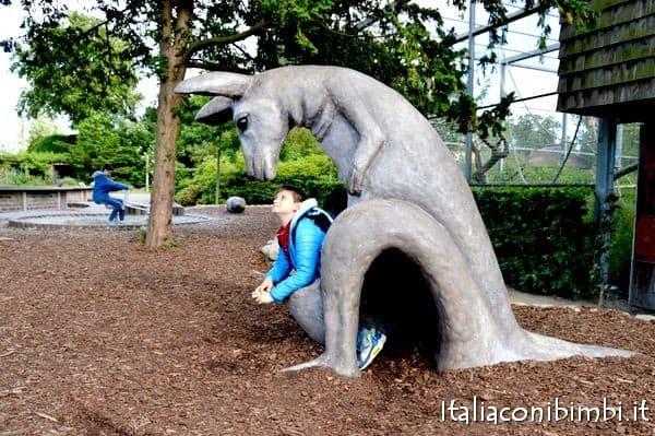 canguro gioco allo zoo di Copenaghen
