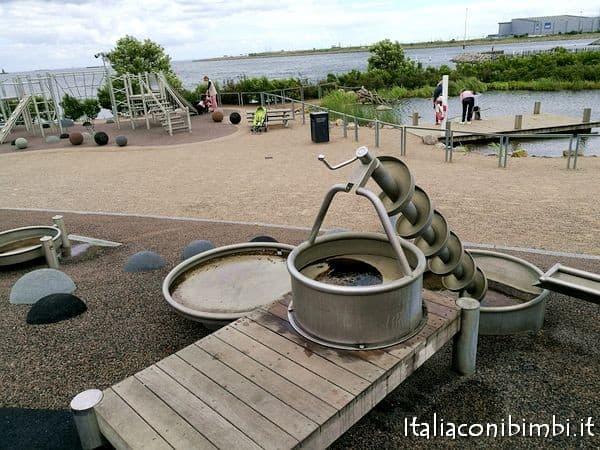 area giochi all'acquario di Copenaghen