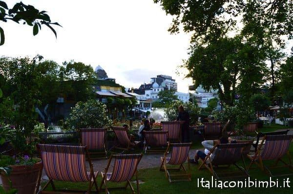 zona relax ai Giardini di Tivoli di Copenaghen