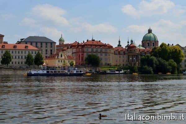 battelli sulla Moldava - Praga