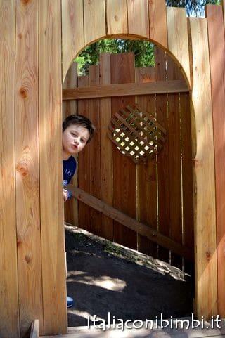 casetta nel bosco ad Ally Farm, il nuovo parco giochi in quota di Alleghe