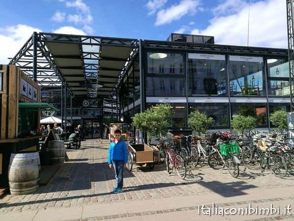 Esterno del mercato coperto di Torvehallerne