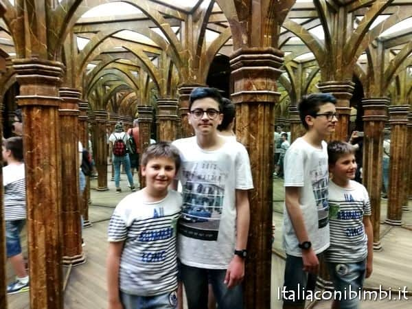 labirinto degli specchi sulla collina di Petřín a Praga