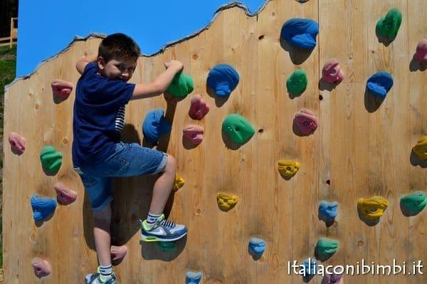 parete d'arrampicata Ally Farm Alleghe
