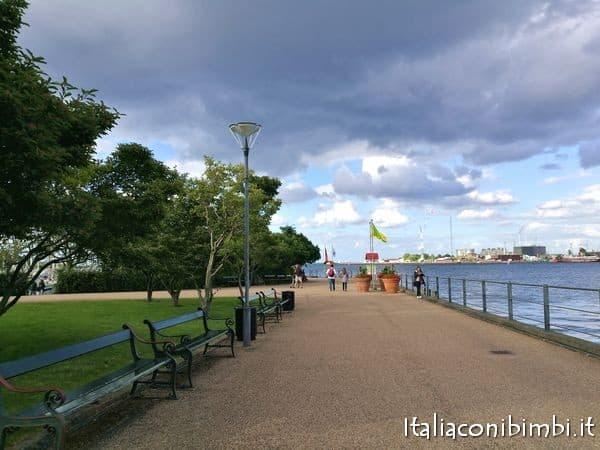 La passeggiata per vedere la Sirenetta di Copenaghen