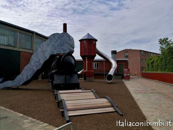 playground al museo ferroviario di Odense