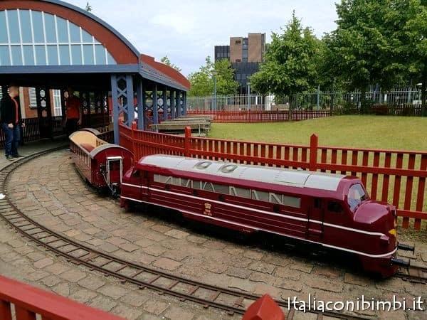 trenino al museo ferroviario di Odense