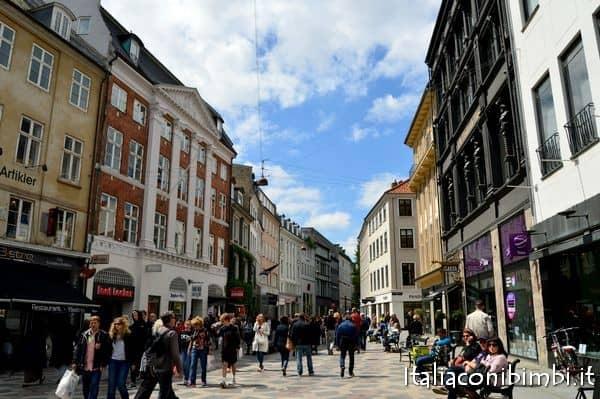 via dello shopping di Copenaghen