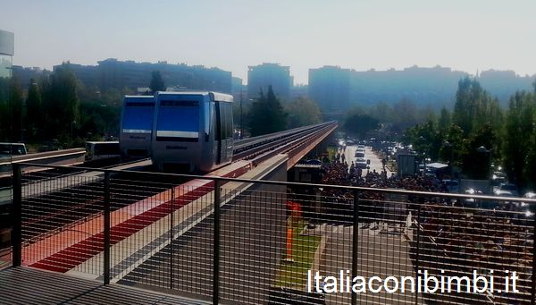Mini metro Perugia durante Eurocholate