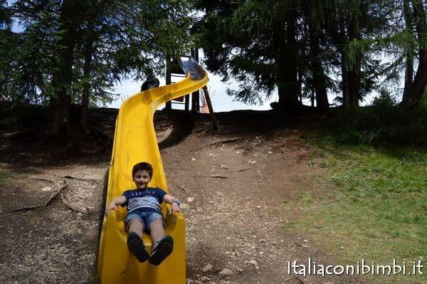 Scivolo al rifugio Lee in Val Badia