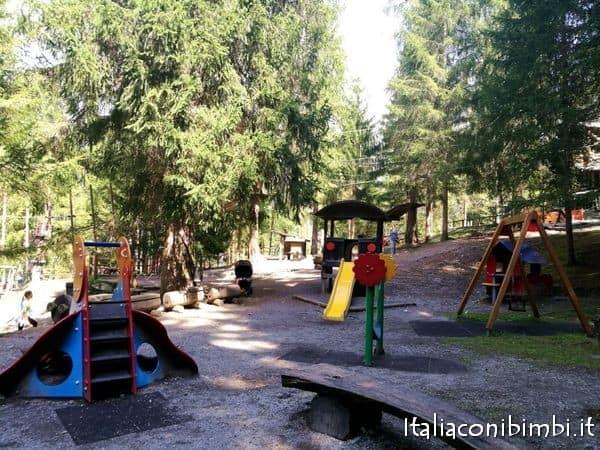 area giochi al parco degli gnomi di Sillian