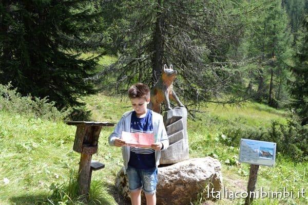 caccia al tesoro al Summer Park La Crusc in Val Badia