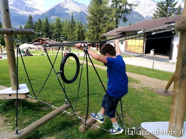 giochi di equilibrio al Family Park Klausberg