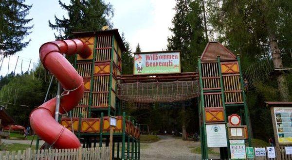 ingresso del parco degli gnomi di Sillian