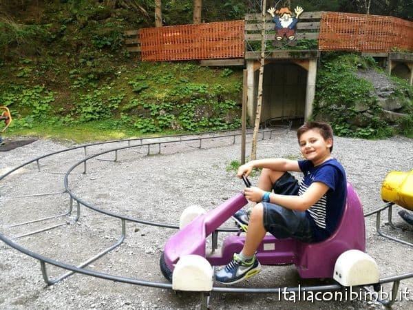 pista delle macchinine a pedali al parco degli gnomi di Sillian