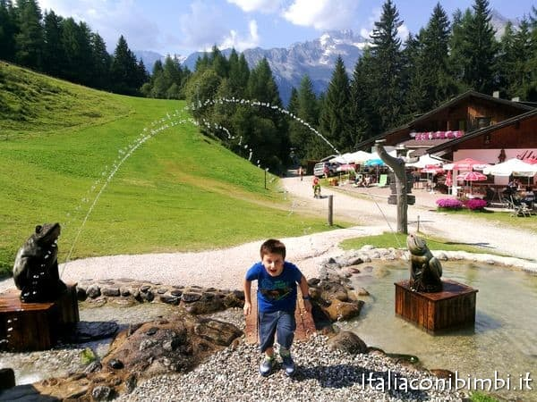 giochi d'acqua al Family Park Klausberg