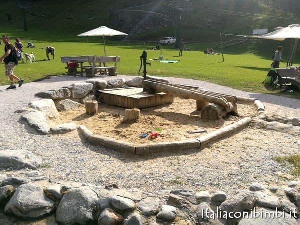 sabbiera al Family Park Klausberg della Valle Aurina