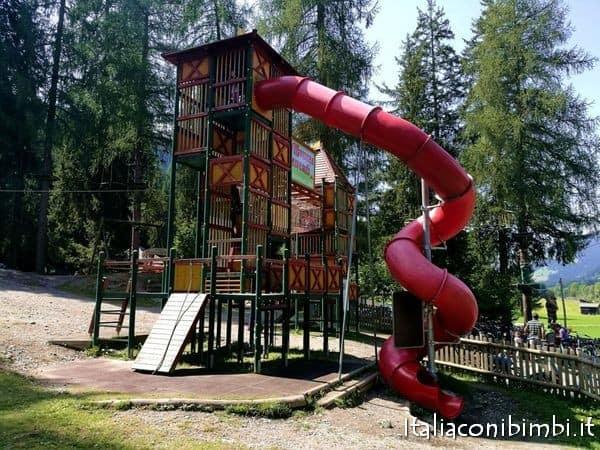 scivolo al parco degli gnomi di Sillian