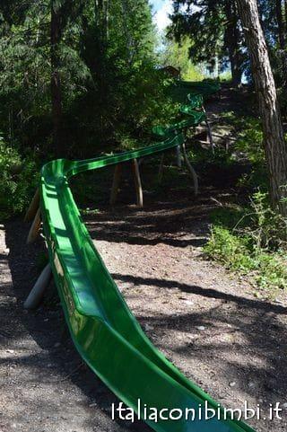 scivolo al parco giochi Mondo Bimbi Valpusteria