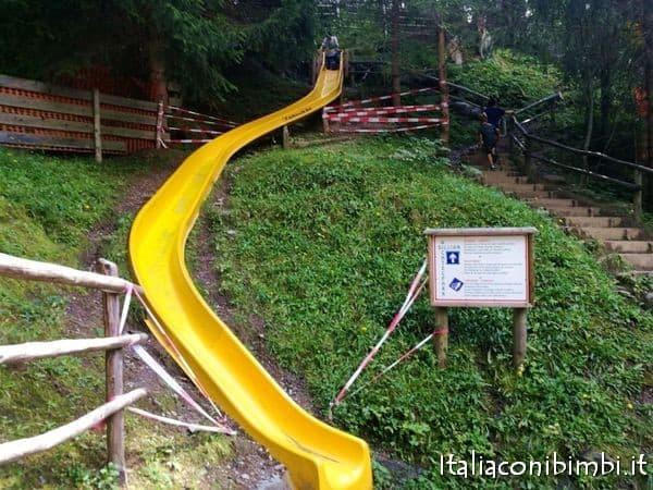 scivolo aperto al parco giochi Wichtelpark Sillian